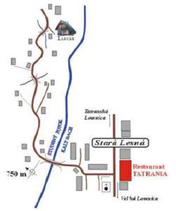 Cottage Lucia, Stara Lesna, High Tatras - Orientation map